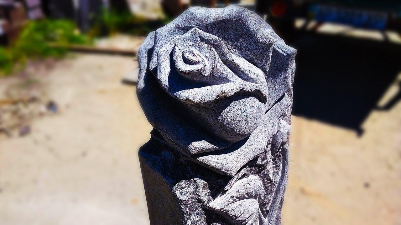 Розы вырезанные из гранита фото