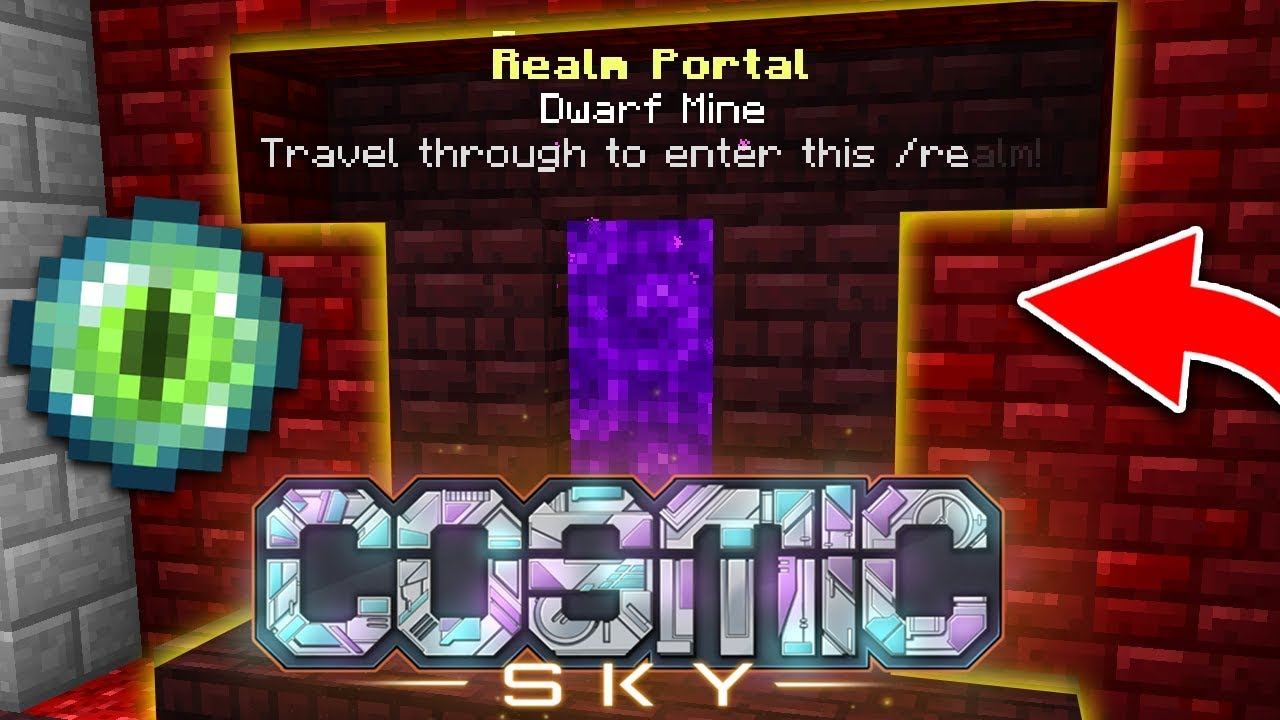 Travelling to our NEW REALM! | COSMIC SKY S3 #8 (Minecraft SKYBLOCK)