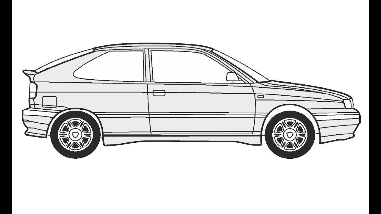 How To Draw A Lancia Delta Hpe Lancia