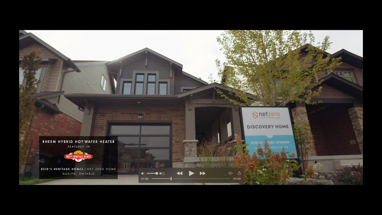 Rheem Canada Helps Build Net Zero Energy Homes Youtube