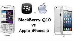 BlackBerry Q10 vs Apple iPhone 5 | Specs Comparison