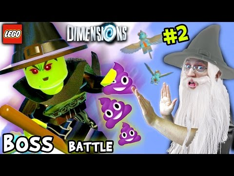 Lets Build & Play LEGO Dimensions #2: Wicked Witch Of The West Battle & Purple Poopies?