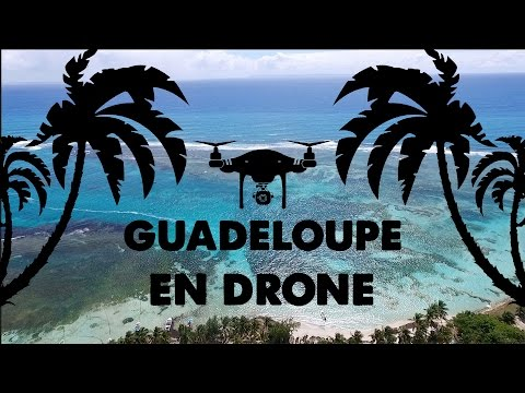 Guadeloupe with drone (2K). cinematic travel vlog