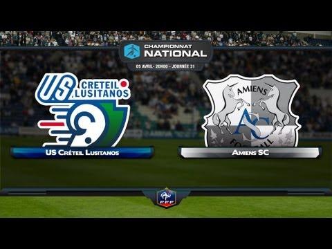 Championnat National - 31ème journée : US Créteil - Amiens SC