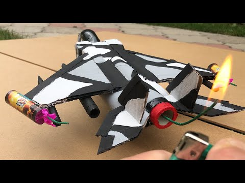 Rocket Powered Jet Fighter from Cardboard