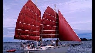 1987 Colvin Gazelle Steel Schooner - Junk Rig Sailboat