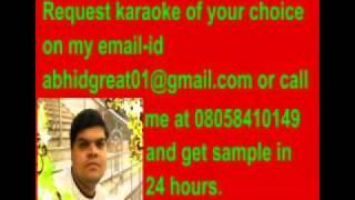 Yaar badal na jana karaoke- jaanwar.flv