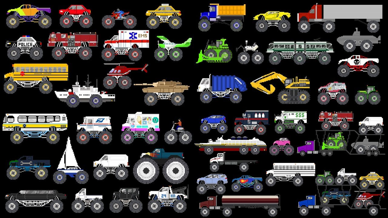 monster vehicles collection monster trucks the kids picture show fun educational youtube monster vehicles collection monster trucks the kids picture show fun educational