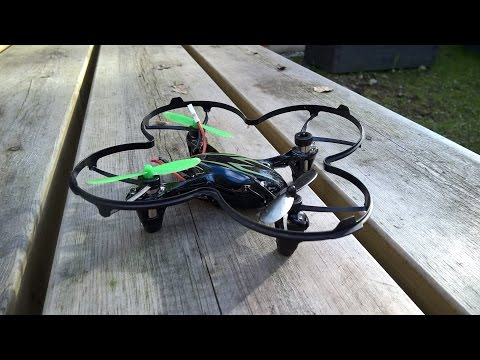 Failed Hubsan X4 winter flight over the forest