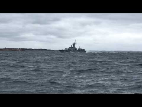 Swedish navy in action