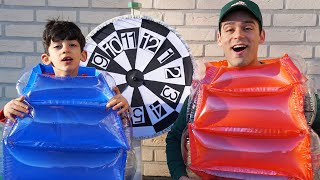 Jason and Alex play outdoor games
