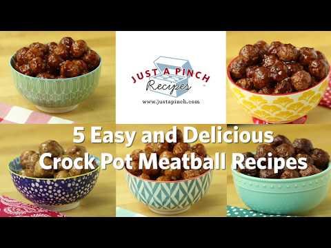 5 Easy & Delicious Crock Pot Meatball Recipes