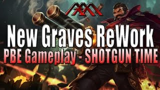 SHOTGUN FIESTA - New Graves Gameplay - PBE - League of Legends