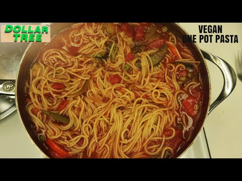 $5 Vegan Meal From The Dollar Store 2019 | One Pot Pasta Meal