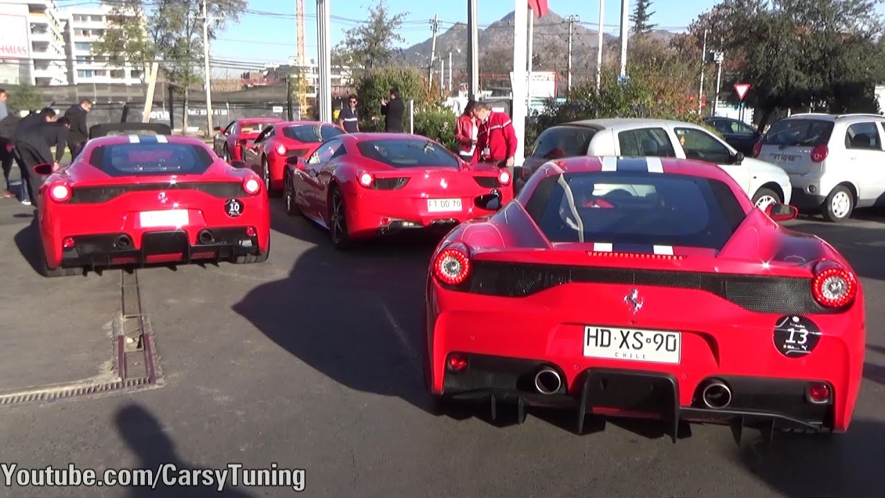 Ferrari Club Chile Trip - F12, 458 Speciale x2, 458 Spider, California ...
