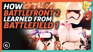 How Battlefront 2 Learned From Battlefield 1 | E3 2017 GameSpot Show