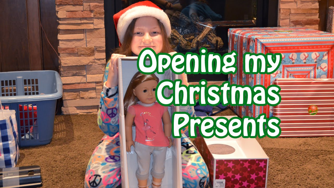Opening Christmas Presents 2014 American Girl Amp More