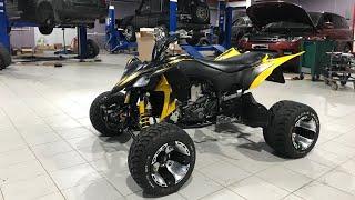 Crazy stunt Yamaha Raptor 700 / Yfz450R