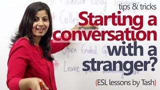 How to start a conversation with a stranger? - Spoken English lesson thumbnail