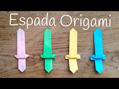 Aprende cómo hacer espada de papel fácil un origami para niños