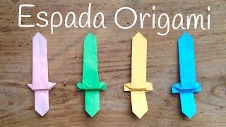 ORIGAMI fácil para niños | ESPADA de papel fácil