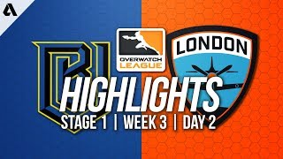 Boston Uprising vs London Spitfire | Overwatch League Highlights OWL Week 3 Day 2