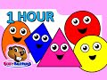"""""""Colors & Shapes DVD"""" - 1 Hour, Super Simple Colours, Little Baby , Kids Learn Nursery Rhymes"""