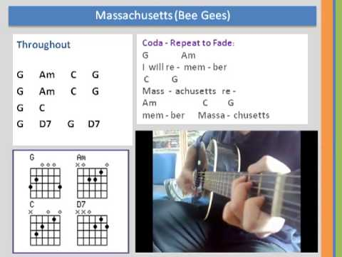 Learn Chords Massachusetts Bee Gees Cover Youtube
