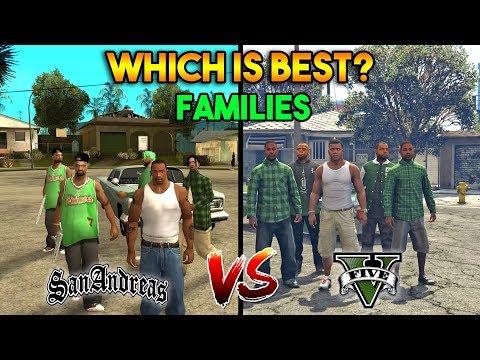 GTA 5 VS GTA SAN ANDREAS GROVE STREET FAMILIES : WHICH IS BEST?