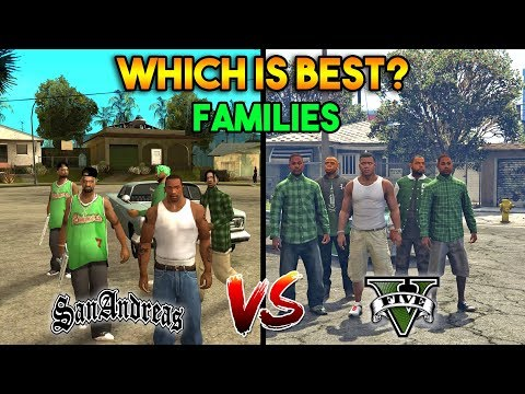 GTA 5 VS GTA SAN ANDREAS GROVE STREET FAMILIES : WHICH IS BEST?