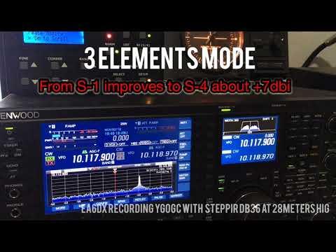 MOSCARI EA6DX RADIO :  YG0GC Vanuatu Steppir db36 folded dipole versus 3 elements folded