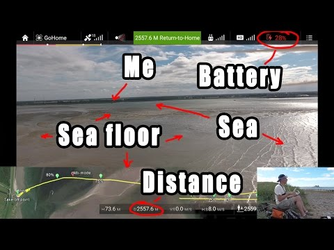 My &x20ac1500; quadcopter runs out of battery ABOVE the sea!! Can I still save it?