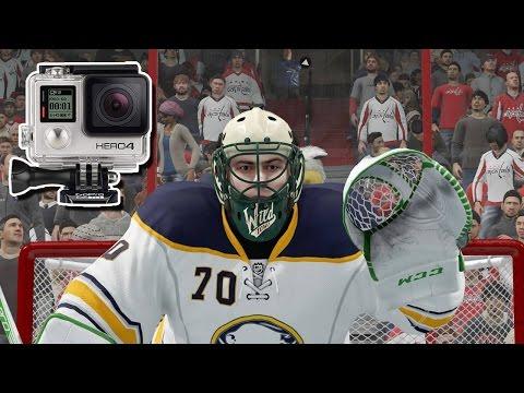 NHL 17 - EASHL Goalie #3 - Real Life GoPro Hockey!