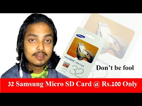 Samsung Micro SD Card @ Rs.100 Only (How? Know The Reason)