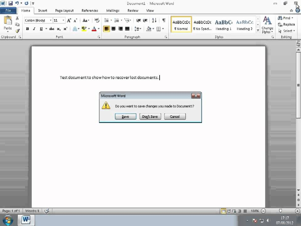 Can someone help me to recover my coursework from Microsoft word?