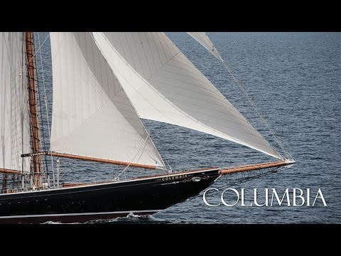 Columbia - 141' Racing/Fishing Schooner Yacht - Launch To Sea Trials
