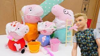 Свинка Пеппа і ремонт в будиночку - Джордж в шпалерах