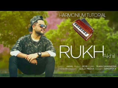 Rukh By Akhil   Harmonium Tutorial   Punjabi Song On Harmonium