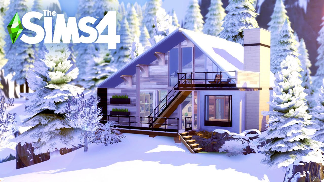 Modern Chalet Sims 4 Speed Build Youtube
