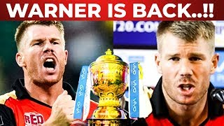 David Warner is back | KKR vs SRH | Preview and Fantasy League Prediction