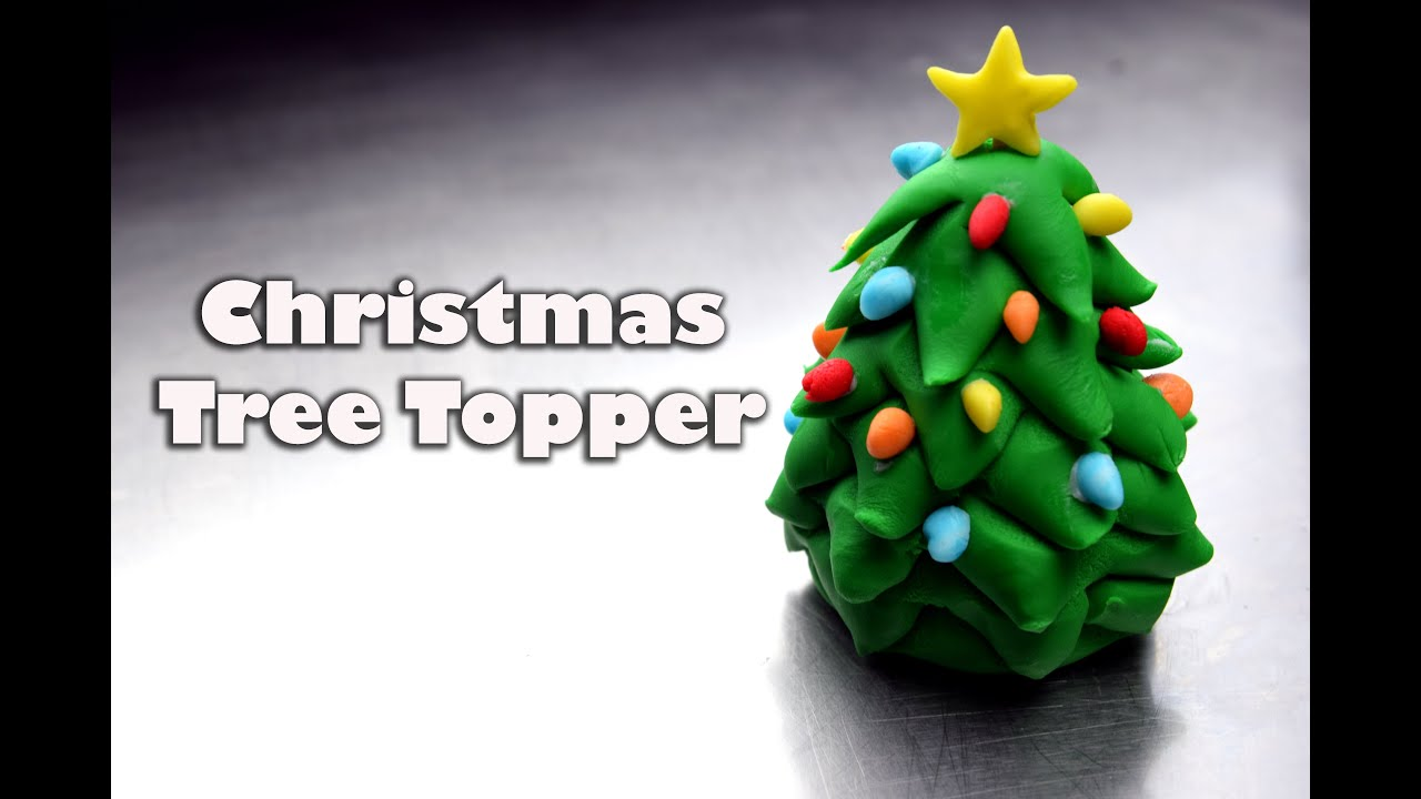 How To Make An Easy Fondant Christmas Tree Topper Christmas Cupcakes