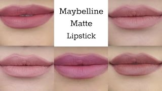 Maybelline Creamy Matte Lipcolor Swatches