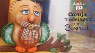 Coruja em biscuit com Carla Tenório