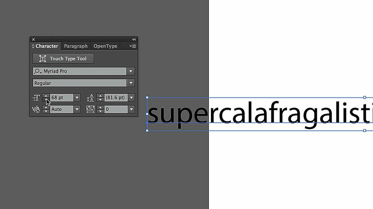 How To Resize Type Objects Adobe Illustrator Youtube