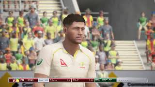 AUS vs ZIM TEST MATCH - Ashes Cricket - My Player Career ep.98