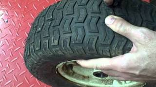 Small Engine Repair: How To Plug A Tire On A Lawn & Garden Tractor Trailer