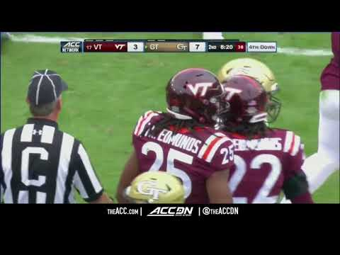 Virginia Tech vs Georgia Tech College Football Condensed Game 2017