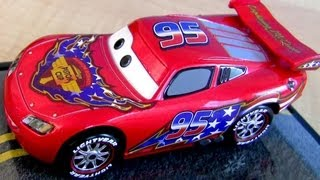 Stars And Stripes Lightning Mcqueen Metallic Finish Cars 2 Diecast Display Case Disney Store Car Toy