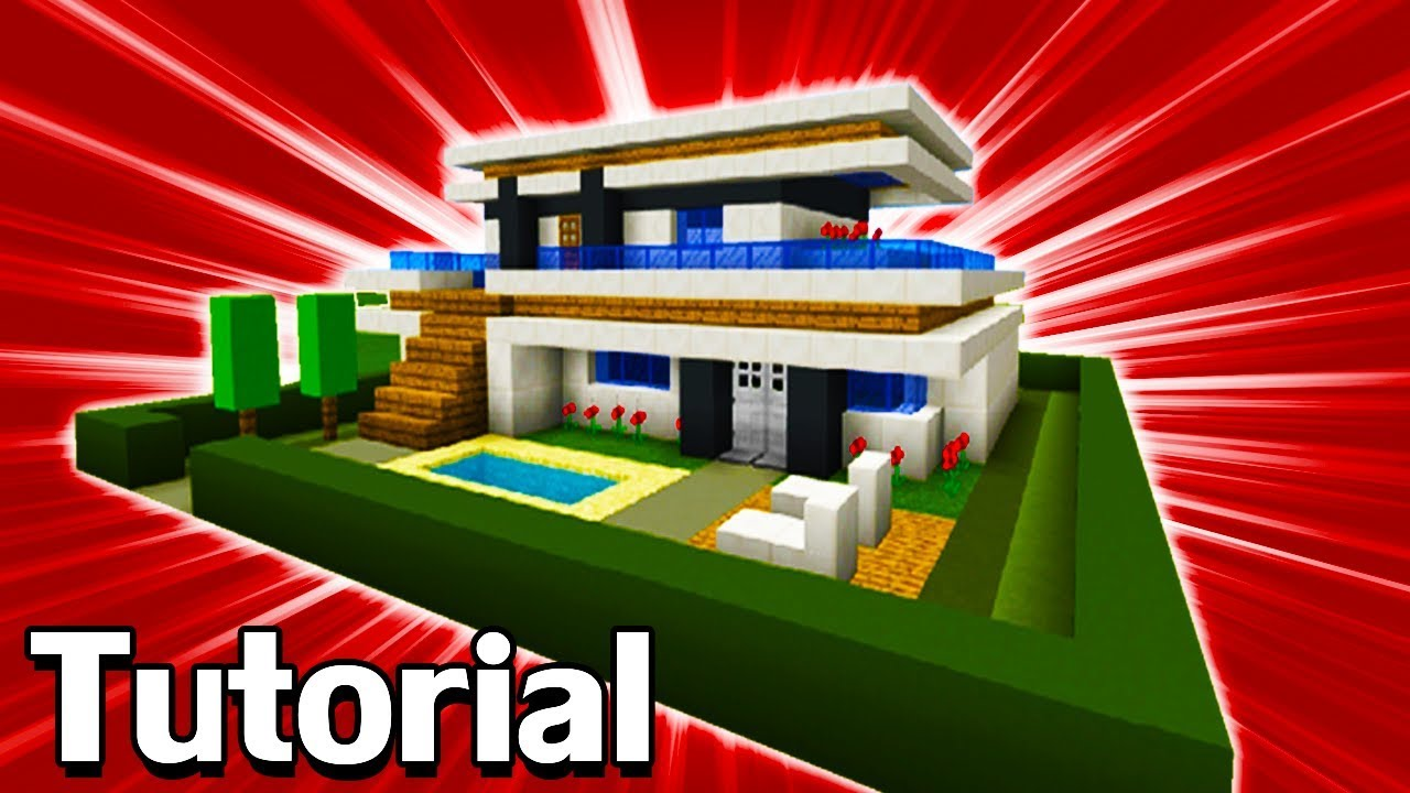 Minecraft Tutorial: How To Make A Modern House #10 - YouTube