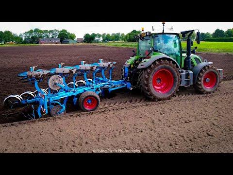 Ploegen   Ploughing   Pflügen   Labourer   Fendt 516   Lemken Juwel   Trimble Autopilot   GeoPlough